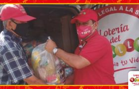 entrega ayuda alimentaria a loteros del Valle del Cauca